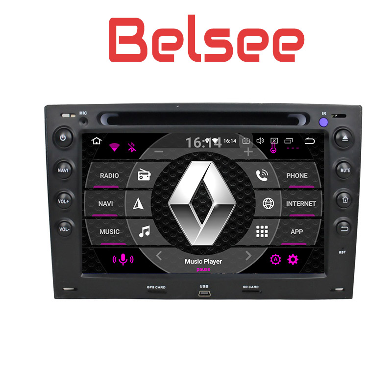 Belsee for Renault Megane 2003-2009 Android 8.0 Ocat Core Car Radio Stereo GPS Navigation WiFi Screen Autoradio Audio DVD Player