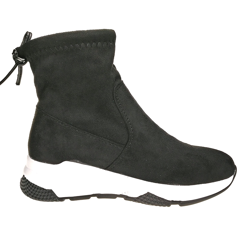 Toe Señoras Invierno Botas Nieve Zapatos Mujeres Slip on Punta Vaca Mujer Suede Negro Altura Cordones Aumento CqPzXRPw