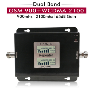 Image 1 - 65dB Gain 17dBm AGC Dual Band Repeater Band 8 GSM 900 LTE Band 1 3G UMTS WCDMA 2100mhz Cellular Mobile Signal Booster Amplifier