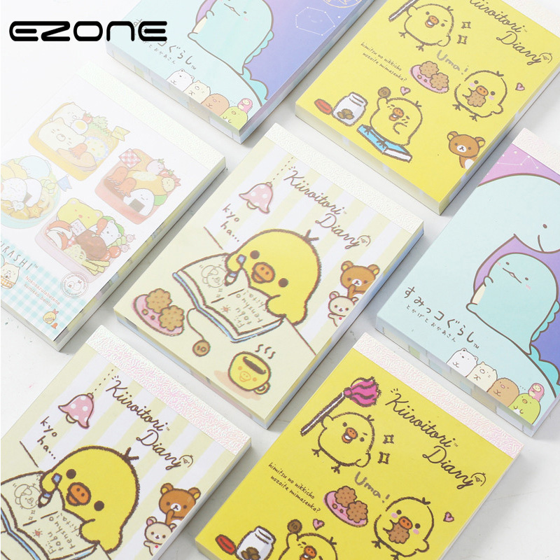 EZONE Kawaii Cartoon Mini Notebook Printed Cute Dinosaur / Chicken / - Բլոկնոտներ եւ նոթատետրեր