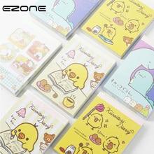 EZONE Kawaii Cartoon Mini Notebook nyomtatott Aranyos Dinosaur / Csirke / Élelmiszer Notepad Traveler Diary Napi Memo Pad iskolai Office Supply