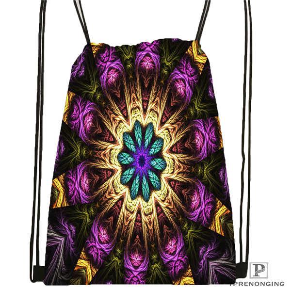 Custom Mandala-Buddhist-@4 Drawstring Backpack Bag For Man Woman Cute Daypack Kids Satchel (Black Back) 31x40cm#20180611-03-144