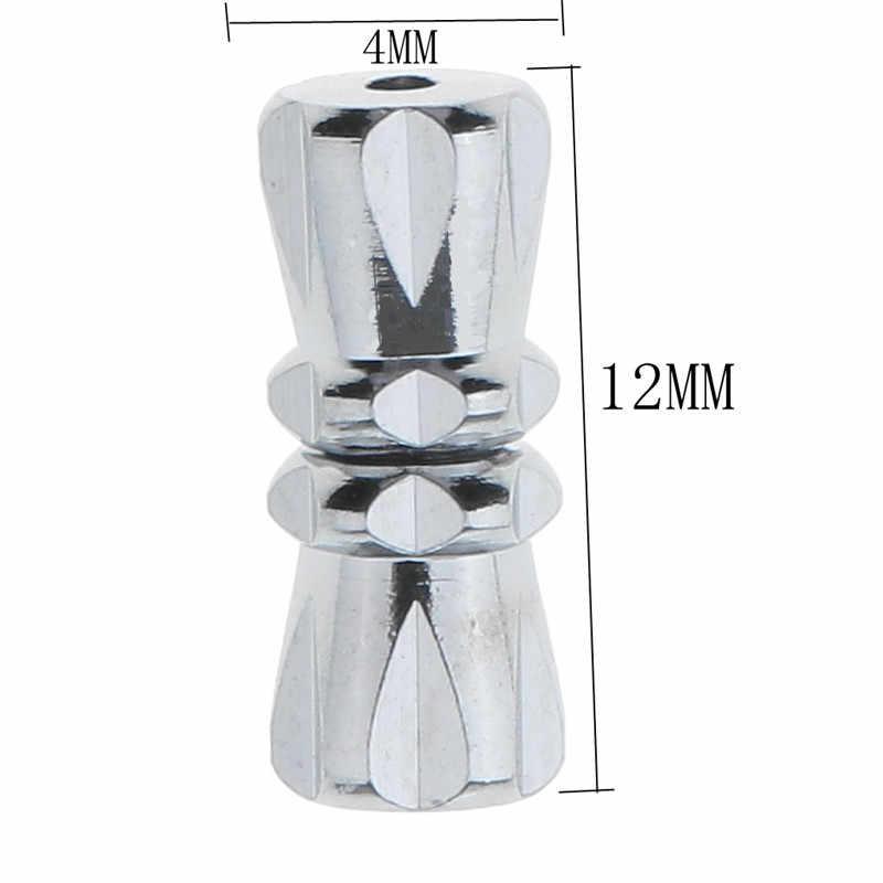 10Pcs משעמם כסף בורג אבזם חבית בורג נועלים צמיד שרשרת תכשיטי ביצוע ממצאי חור 1mm HK111