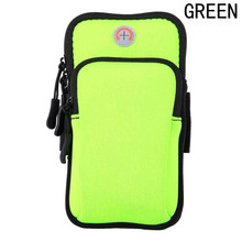 Sport Armband Case Zippered Fitness Running Arm Band Bag Pouch Jogging Workout Cover For Mobile 7Plus Smart Phone Bag