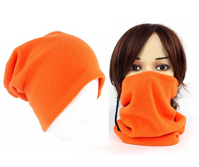 New Unisex Men Women Thermal Polar Fleece Snood Hat Neck Warmer  Winter Bonnet 3 In 1 Scarf G-347
