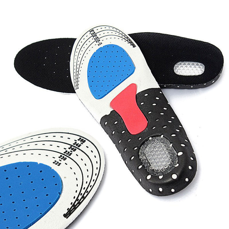 Unisex Foot Care Shoes Insert Pad Sole Insole Men Silicone Gel Shoes Pad Cushion