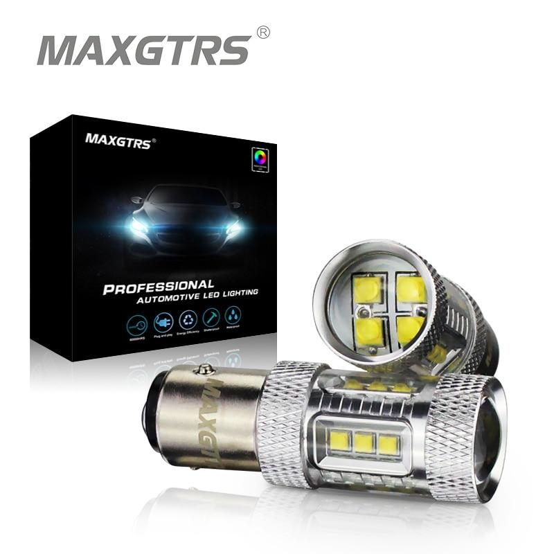 2x S25 1157 30W 50W 80W BAY15D Cree Chip XBD LED Light Bulb P21/5W Car Reverse Backup Brake Light Turn Parking Signal Light