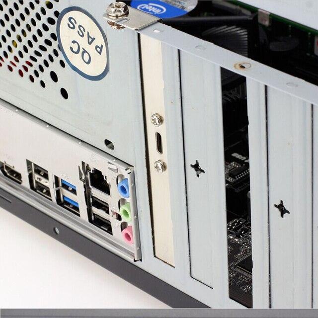 19pin USB en-tête à USB 3.1 type-c câble 20 broches USB3.0 femelle à USB-C adaptateur carte PCI-e Long profil support