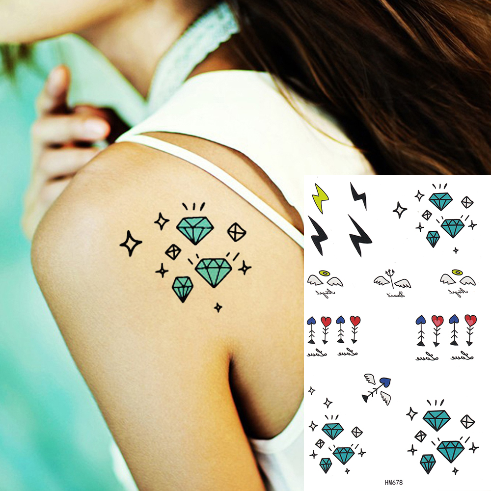Koning Paard Leuke Diamond Sterren Tattoo Voor Kind Vrouwen