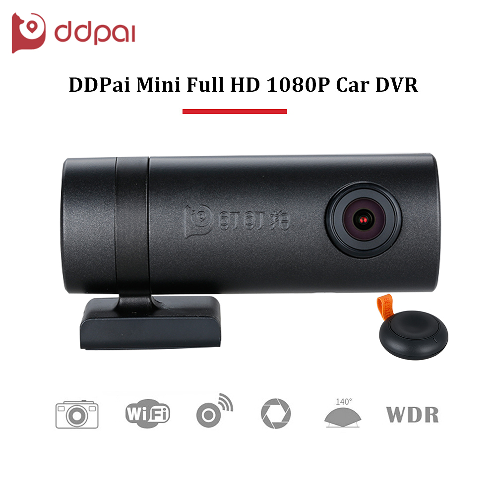 ddpai Mini HD1080P Car DVR Wifi WDR Rotatable Lens Camera Digital Video Recorder Dash Road Camcorder Night Vision for Phone APP bigbigroad for peugeot 3008 app control car wifi dvr dual camera video recorder night vision car black box wdr car dash camera