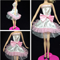 NK One Set Outfit Handmade Fashion Short Dress For Barbie Doll Dress Baby Girl Birthday new year Best Present for kids 061D