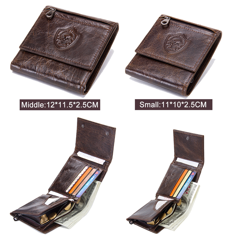 fb54109c084e CONTACT S Genuine Leather Men Wallets New Male Short Purse Brand Design  Money Trifold Clutch Wallet With Card Holder Coin Bags-in Wallets from  Luggage ...