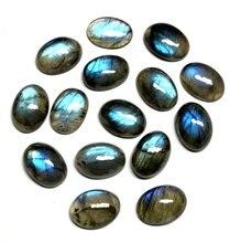 Commercio allingrosso 10 pz/lotto AA Labradorite Cabochon Bead 14x19mm 15x20mm Ovale forma forte flash brillare perle di labradorite Anello Viso
