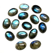 Wholesale 10pcs/lot AA Labradorite Cabochon Bead 14x19mm 15x20mm Oval shape strong flash shine labradorite Beads Ring Face