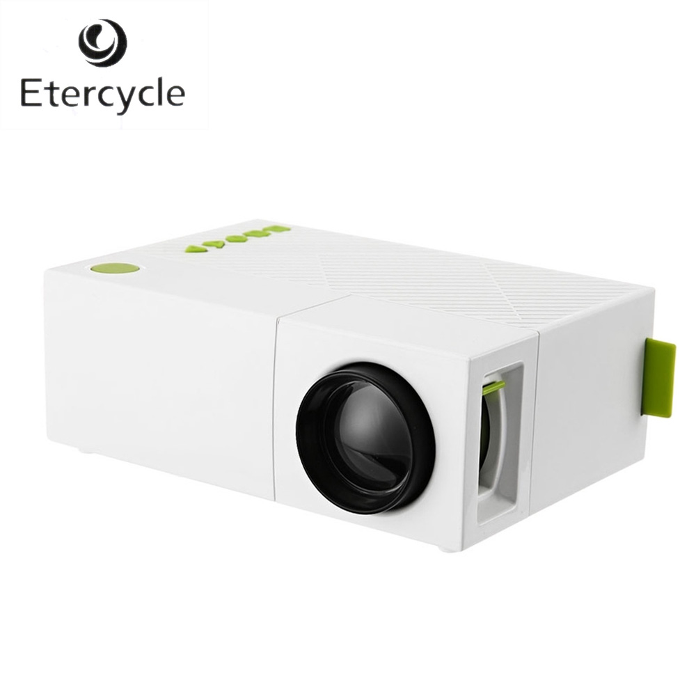 Yg310 Lcd Projector 600lm 320 X 240 1080p Mini Portable Hd: Etercycle LED Portable Projector 600LM 3.5mm Audio 320 X