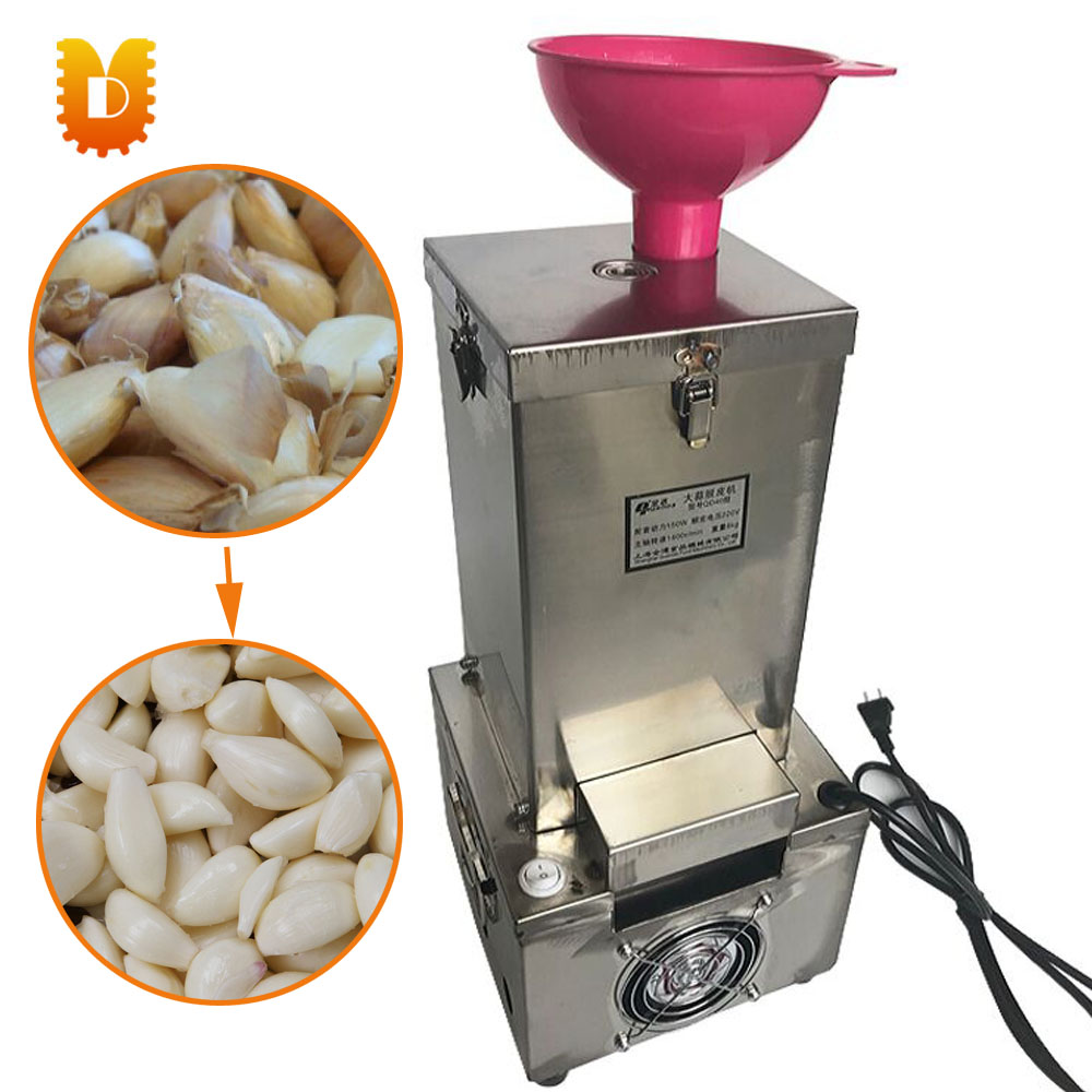 stainless steel dry garlic peeling machine/feeder+outlet househould garlic peeler stainless steel granule weighing filling machine with feeder