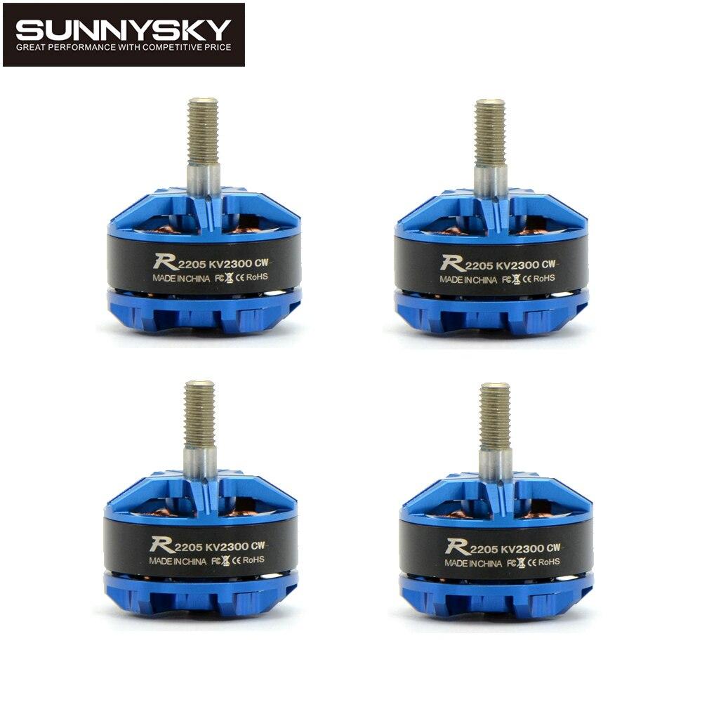 4 unids Original Sunnysky R2205 2300KV/2500KV Motor sin escobillas CW CCW para FPV Racing Quadcopter Drone de Multicopter