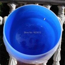 12'' Frosted  Adrenals Chakra Color Quartz Crystal Singing Bowl