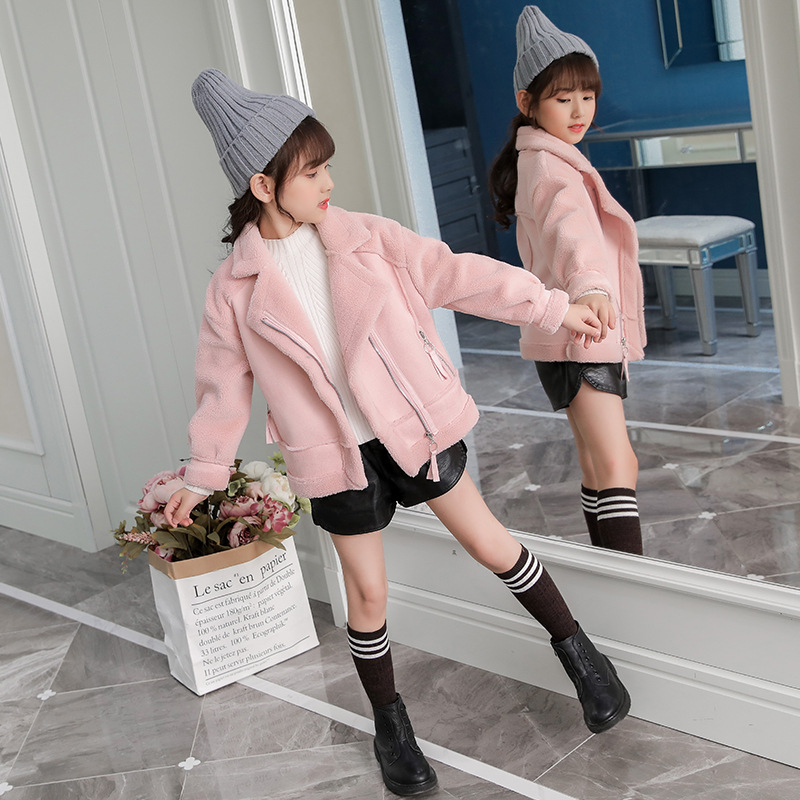 Image 3 - New   Girls Coats And Jackets  Suede Fleece  Kids Coats Fashion 4 10 Old Size  Autumn Winter 9GT018-in Jackets & Coats from Mother & Kids