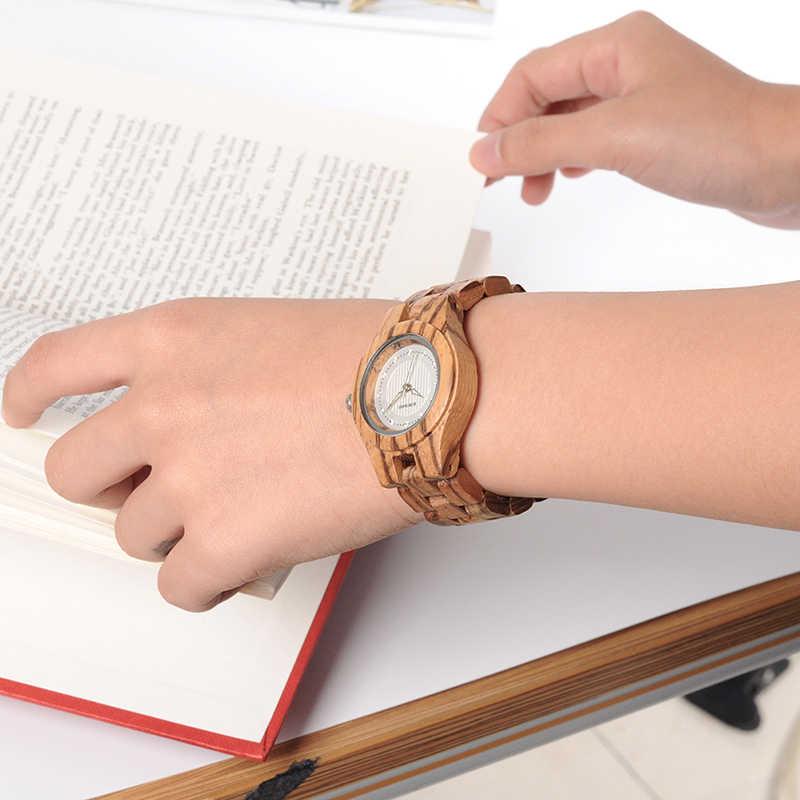 BOBO BIRD relojes de mujer reloj de pulsera de madera para mujer relojes de cuarzo con diamantes cierre plegable en caja de regalo señoras logotipo personalizado