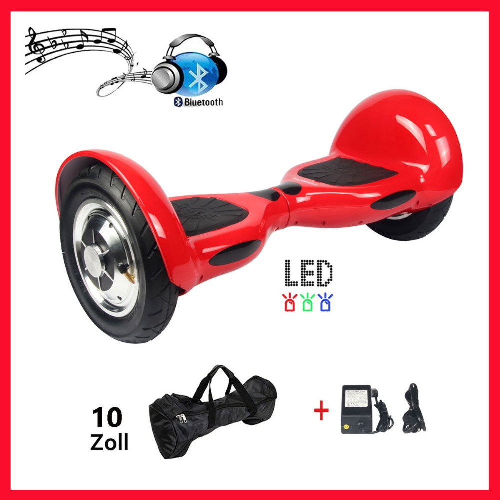 Balance Board With Wheels: Hoverboard 10 Inch 2 Wheels Electric Skateboard Electric