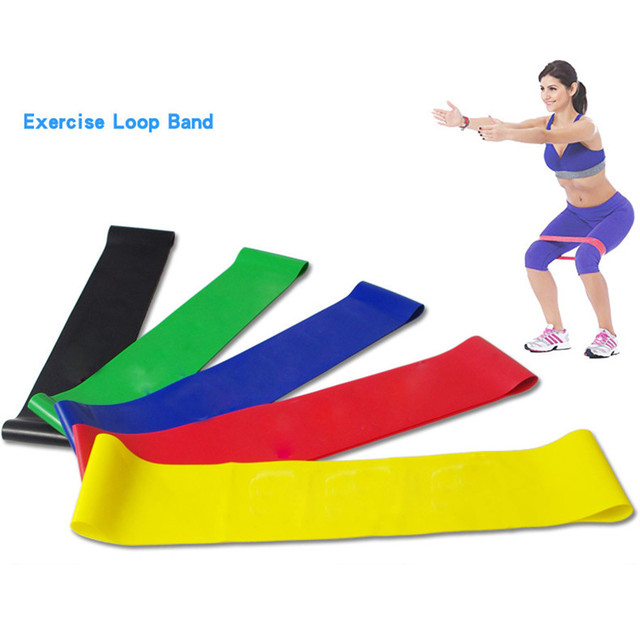 Resistance Bands fitness Loop Yoga Pilates for Home GYM Fitness Exercise and Workout