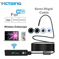VicTsing 10m 8mm Endoscope Camera WiFi Borescope IP68 Waterproof 8 LED Inspection Camera 1600*1200 HD Camera for iPhone Android