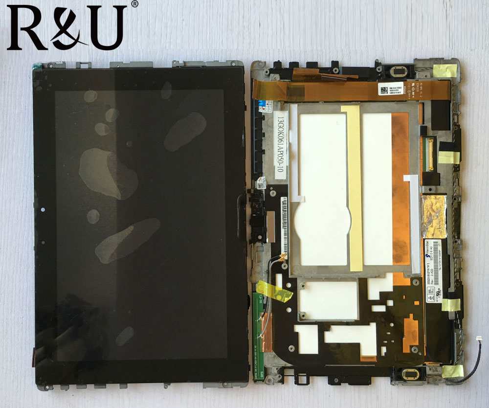 R&U Used parts lcd screen display with touch screen digitizer assembly with frame For ASUS Eee Pad Transformer TF101 TF 101