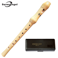 Wooden High pitched Recorder German style & Baroque Soprano 8 hole Clarinet C Key Chinese Vertical Flute Musical Instruments