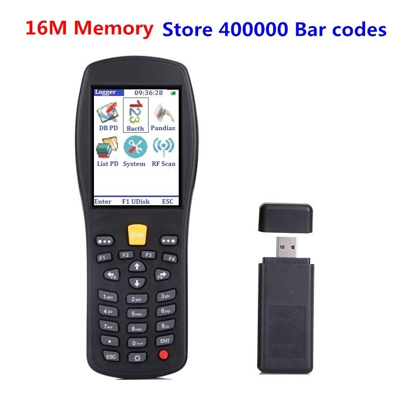 Wireless laser barcode scanner ,Handheld termindal PDA barcode reader for logistics and warehouse and supermarket pos system