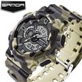 SANDA Mens Watches Top Brand Luxury Quartz LED Digital Watch Men Military Sports Watches Camouflage Resin Clock reloj hombre