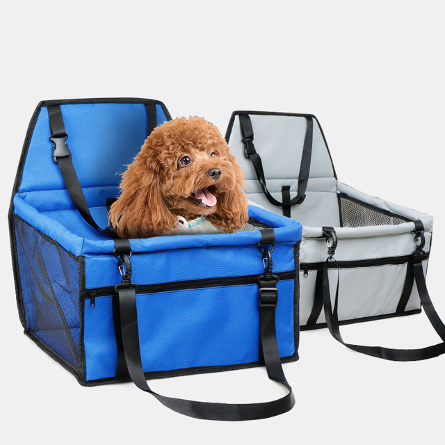 Ortable Dog Booster Car Seat Waterproof Pet Carrier For Cars With Clip On Safety