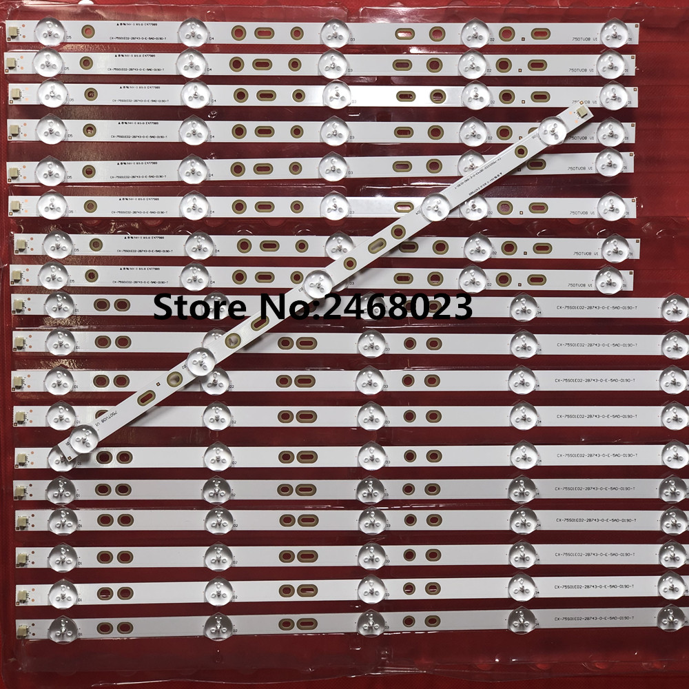 "Image 4 - 12pieces/lot for So ny 75"" KDL 75W850C LED Backlight strip 750TV07 V1 CX 75S01E02 2B753 0 E 59K 4638 T 5+8led-in LED Bar Lights from Lights & Lighting"