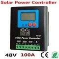 Солнечная система PV Контроллер заряда 100 Ампер 48В  ЖК-дисплей  5 кВт Контроллер заряда  контроллер солнечной энергии 100А 48В