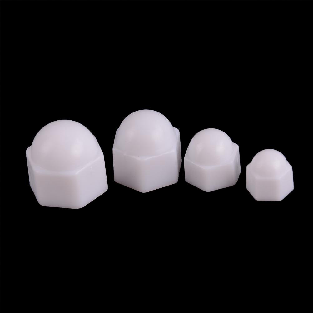 M8 White Plastic HEX NUT//Bolt CAPS Pack of 20