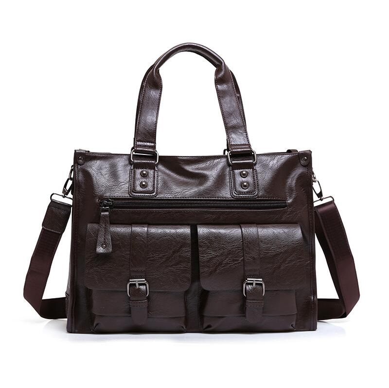 Genuine Leather Men Briefcase Man Bags Business Laptop Tote Bag Men's Crossbody Shoulder Bag Men's Travel Bags JIE-0151 mva genuine leather men bag business briefcase messenger handbags men crossbody bags men s travel laptop bag shoulder tote bags