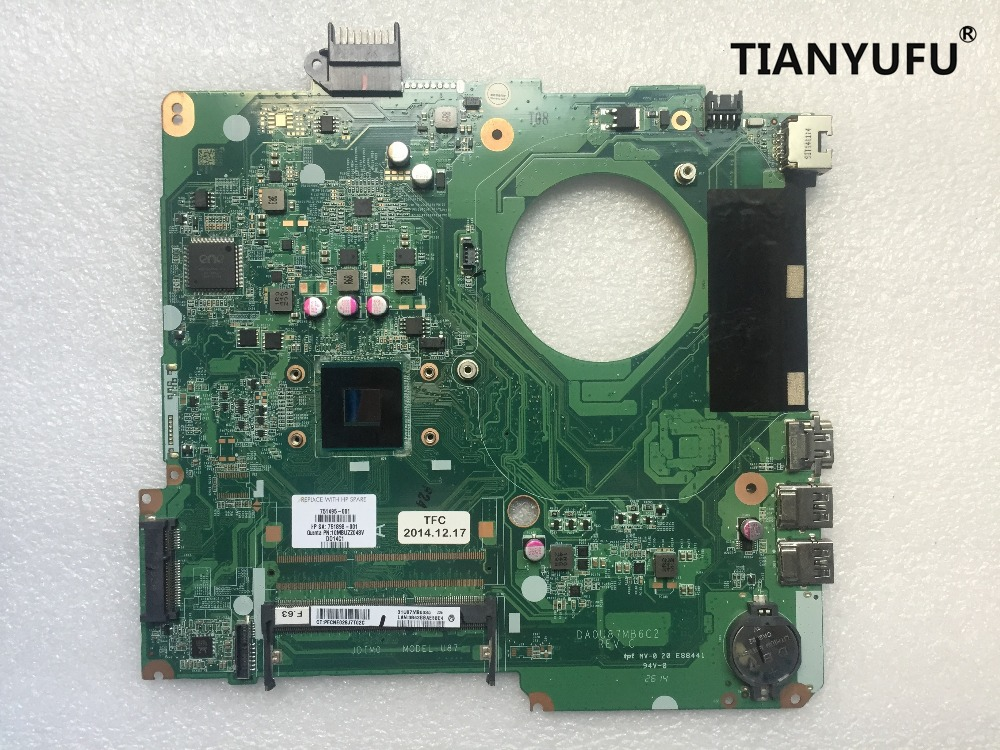 786899 501 free shipping 786899 001 786899 601 for HP 15 F133WM 15 F N2840 Laptop