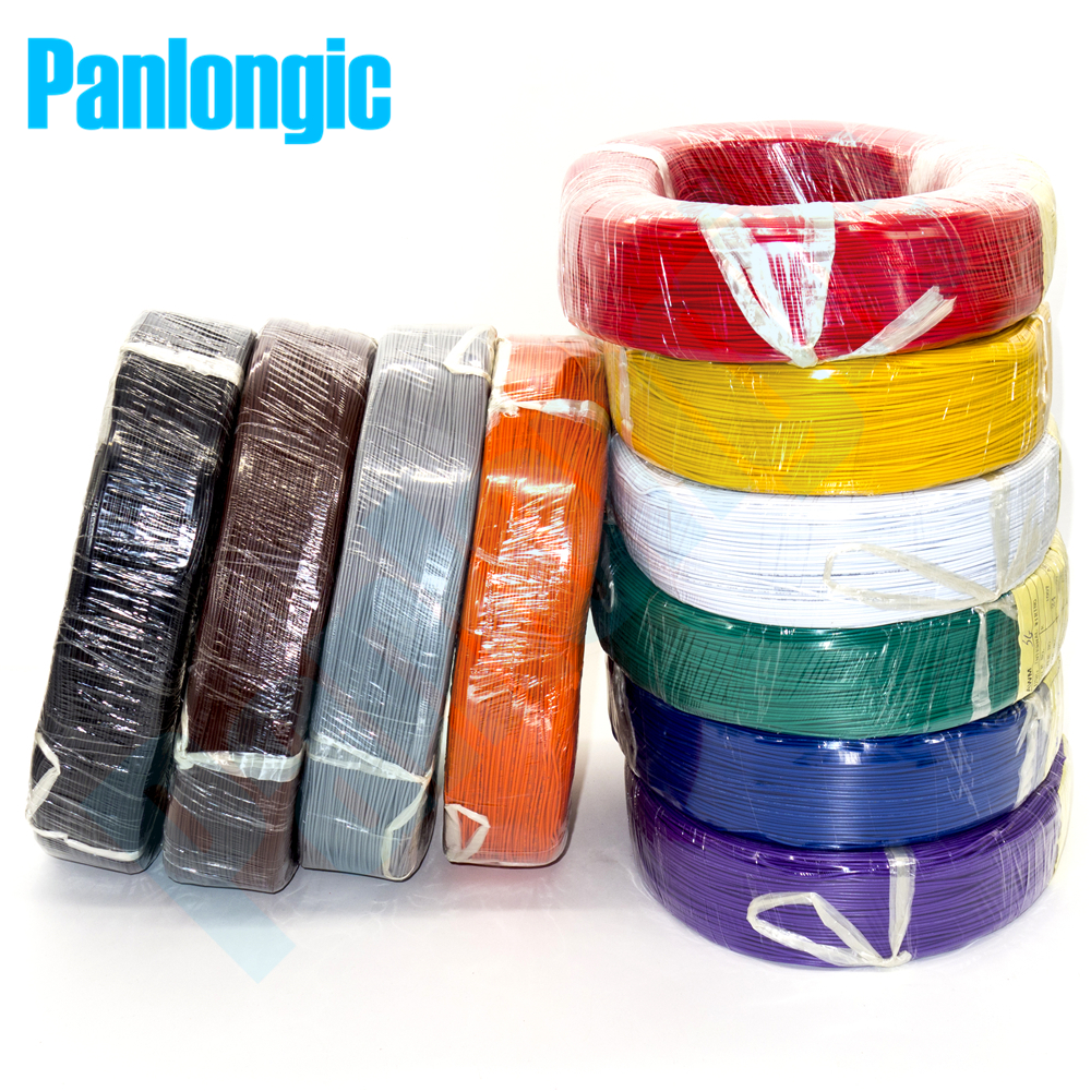 Panlongic 10 Colors 5 Meters UL1007 Wire 24awg 1.4mm PVC Electronic Cable UL Certification