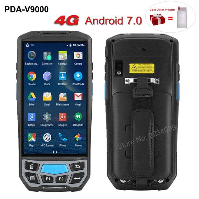 5.0 inç 1D/2D QR barkod tarayıcı NFC WIFI PDA Android 7.0 5 inç kablosuz taşınabilir barkod okuyucu el POS terminali