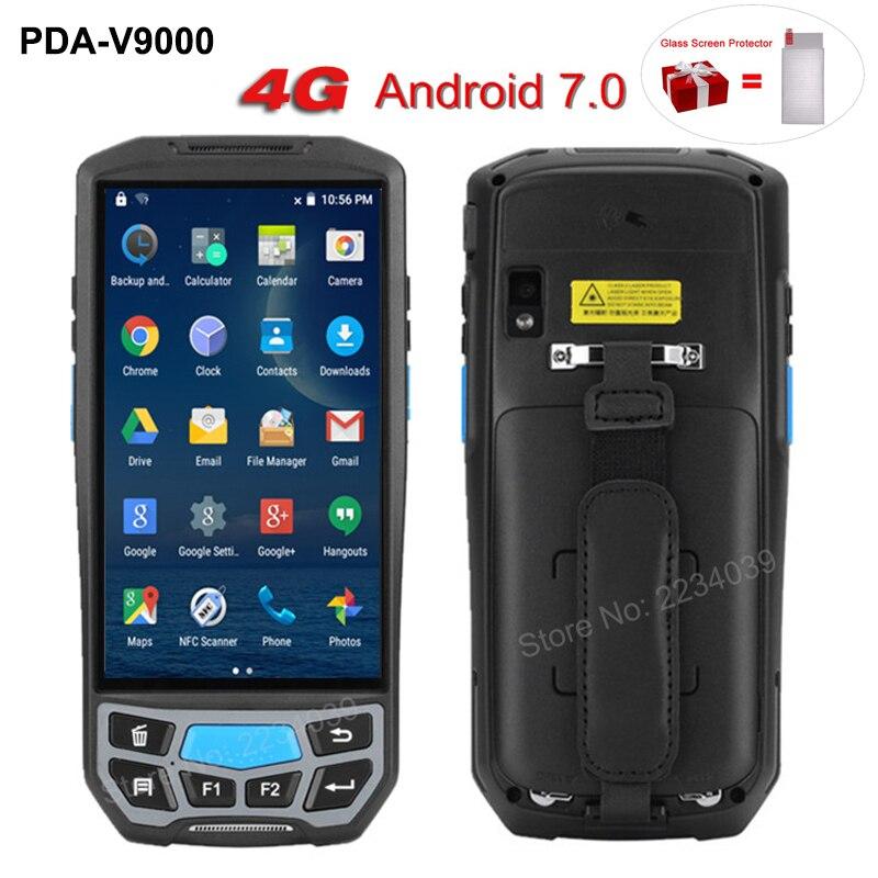 5.0 polegada 1D/2D QR Barcode Scanner WI-FI NFC PDA Android 7.0 5 polegada Sem Fio de Código de Barras Portátil Rearder handheld POS Terminal