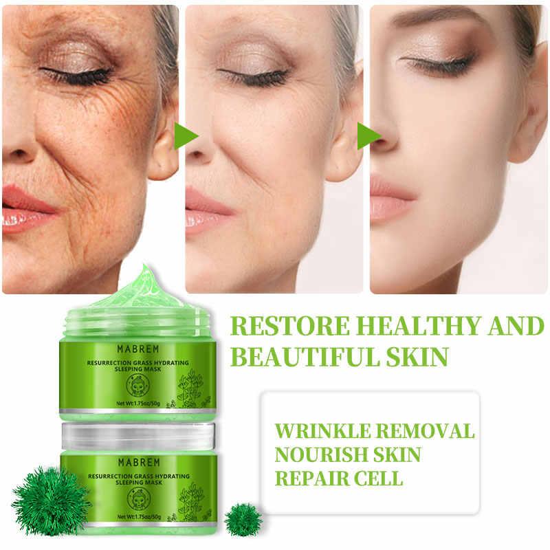 MABREM Anlage Feuchtigkeitsspendende Gesicht Maske Feuchtigkeits Anti-Aging-Bleaching Hautpflege Revitalisierende Creme Schlaf Gesichts Maske Behandlung