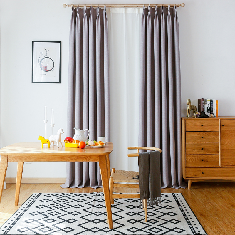 Japanese Panel Blackout Curtains For Bedroom Solid Window