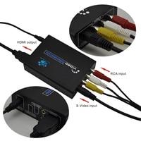 EU/US Plug 1080P HD AV to HDMI Converter 3RCA AV CVBS Composite Video S Video R/L Audio To HDMI Converter Adapter