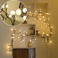 DIY Shape Bendable 2.5M 72LED Tree Rattan branches led string light Outdoor Fairy Lights For Christmas Party Wedding Decoration