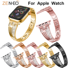 купить Women's bracelet metal for Apple Watch Band Series 4/3/2/1 38mm 42mm 40mm 44mm watches strap watchband for Apple watch wristband по цене 580.32 рублей