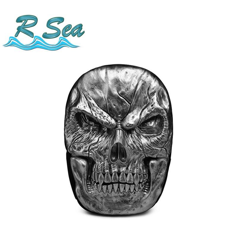Free Shipping Backpack Mystical Demon Skull Laptop Fashion 15.6inch Backpack Men Embossed Travel Wearable Shoulder Bag Hot Sale