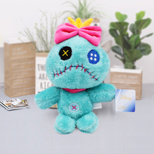 купить Stitch Cartoon Plush Toys Anime Cute Scrump Stuffed Toy Doll for Children Christmas Gift 18cm дешево