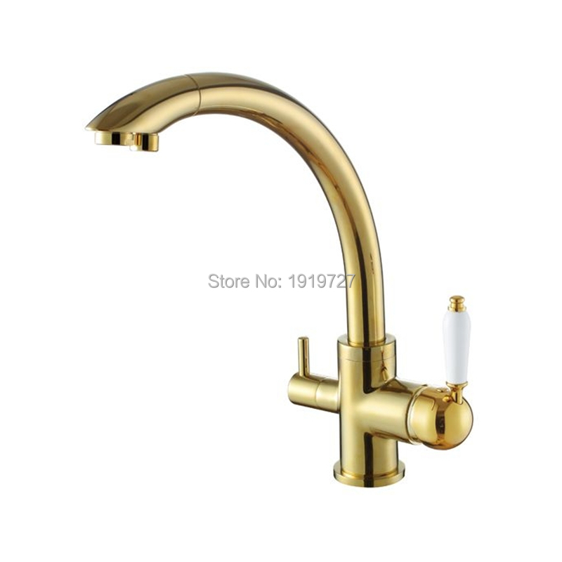 2016 solid brass swivel 3 in 1 drinking water kitchen faucets robinet para torneira wels sink mixer tri flow 3 way filter taps. Interior Design Ideas. Home Design Ideas