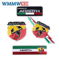 Car Styling 3D Del Metallo Italia Sticker Scorpione Adesivo Abarth Distintivo Dell'emblema Della Decalcomania per Fiat viaggio Abarth Punto 124 125 500