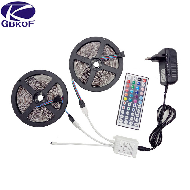 RGB led strip Light 10M 5M 5050 2835 non waterproof led light 10M flexible rgb diode led tape set+Remote Control+DC 12V Power led strip light 5050 rgb waterproof 30led m diode flexible tape 4m 8m 12m 16m smart wifi led controller power supply